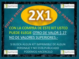 promocion 2X1