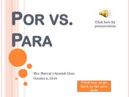 Por vs. Para - MichelleMurray