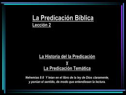 IBBA107-3-ppt – La Predicación Bíblica – Historia de Predicacion