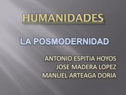 humanidades la posmodernidad
