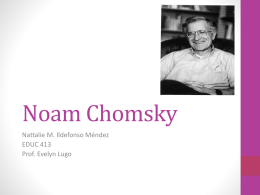 Noam Chomsky - EDUC-413