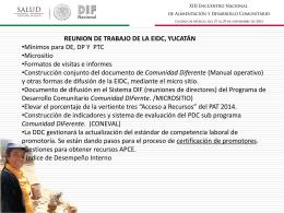 Avance y Seguimiento a los Acuerdos de la Reunión de Mérida y la