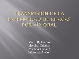 Transmisión de la enfermedad de chagas por vía oral