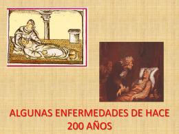 ENFERMEDADES HACE 200 AÑOS