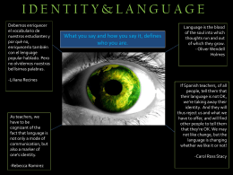 Identity and Language