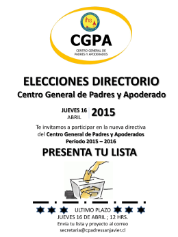 afiche elecciones