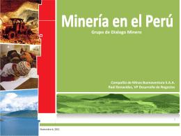 Diapositiva 1 - Grupo de Diálogo, Minería y Desarrollo Sostenible
