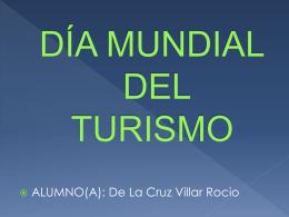 DÍA MUNDIAL DEL TURISMO - cesarvallejotecnologia