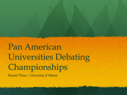 Pan American Universities Debating Championships