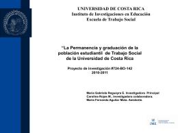 Proyecto en Trabajo Social - Universidad de Costa Rica