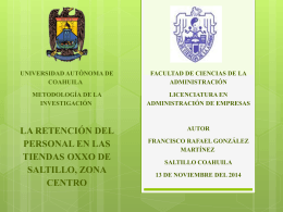 PRESENTACION DEL PROYECTO OXXO