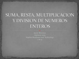 suma, resta, multiplicacion y division de numeros