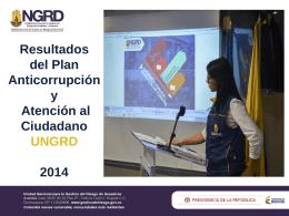Resultados Plan anticorrupción y atención al ciudadano 2014