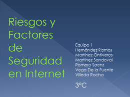 Factores de seguridad en internet