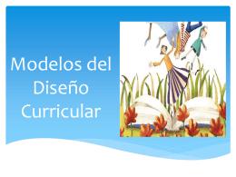 Modelos del Diseño Curricular.