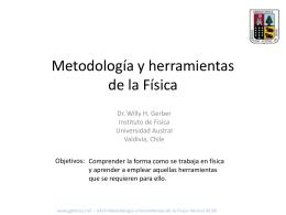 Metodología y herramientas de la Física