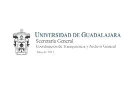 6.- Coordinación de Transparencia y Archivo General