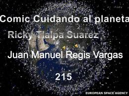 Comic Cuidando al planeta Ricky Tlalpa Suarez
