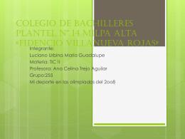 Colegio de Bachilleres Plantel14 «Fidencio