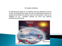 El cambio climatico
