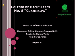 Colegio de Bachilleres No. 8 *Cuajimalpa*
