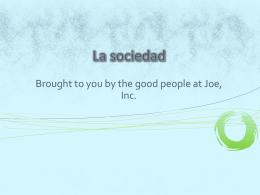 BECK La sociedad