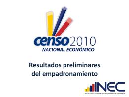 Requerimientos para la ejecución de los Censos de Población