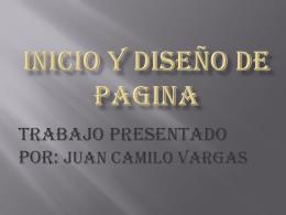 INICIO Y DISEÑO DE PAGINA
