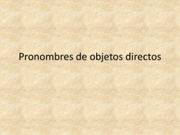 Pronombres de objetos directos