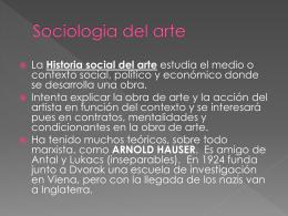 Sociologia del arte