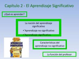 Capítulo 2 - El Aprendizaje Significativo - Cecilia-TIC