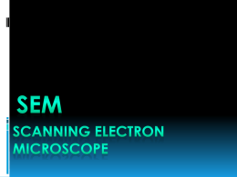 Scanning Electron Microscope SEM - cienciamat-cgn