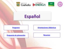 Estándares curriculares de Español