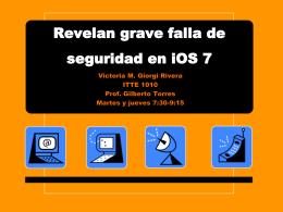 Revelan grave falla de seguridad en iOS 7 - E