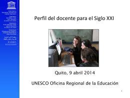 Diapositive 1 - Convenio OREALC Unesco Santillana