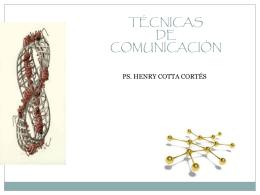 TÉCNICAS DE COMUNICACIÓN - ramos on