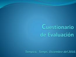 Cuestionario de Evaluación-Investigacion