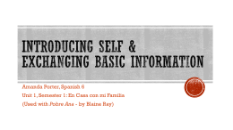 INTRODUCING SELF & EXCHANGING BASIC INFORMATION