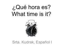 Decir la hora en español