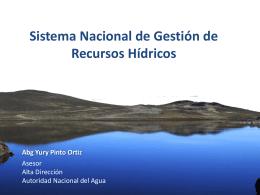 04 sngrh - Autoridad Nacional del Agua