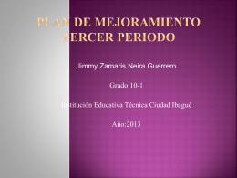 Plan De Mejoramiento Tercer Periodo jeimy (111475)