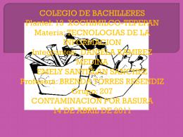 COLEGIO DE BACHILLERES Plantel: 13 XOCHIMILCO