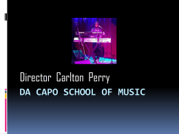 Da capo school of music