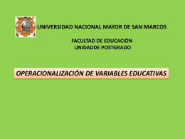UNIVERSIDAD NACIONAL MAYOR DE SAN MARCOS FACULTAD