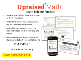 Upraised Math Math help for families