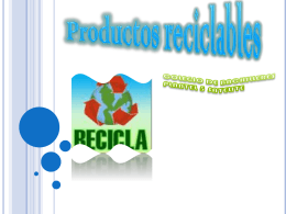 Productos reciclables - info-mari102012