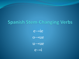 Into Stem-Change Verbs PPT
