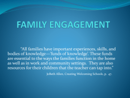 Family Engagement in F-104