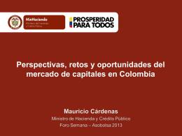 Perspectivas de la Economía Colombiana 2013
