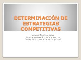 Estrategias Competitivas - Departamento de Industria y Negocios